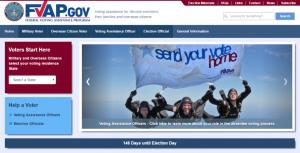 Screenshot of FVAP.Gove Website