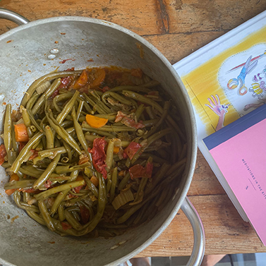 A Taste of Tuscany - String beans with garden vegetables