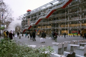 Wandering aimlessly has its benefits. Look what I stumbled upon – Centre Pompidou.