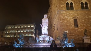 The Fountain of Neptune at Night
