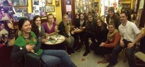 SAI group having coffee